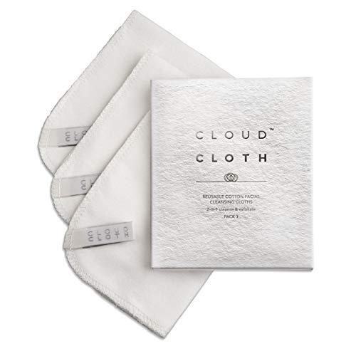 CloudCloth® Paños limpieza faciales doble cara algodón