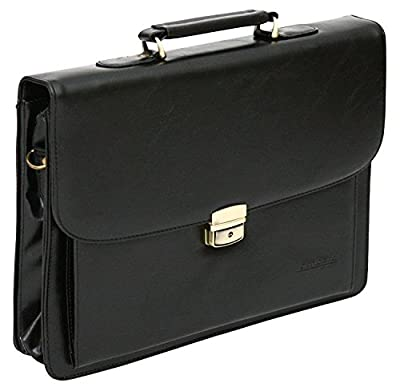 Sacoche porte-documents en bandoulière - pour ordinateur portable - style business - PU imitation cuir