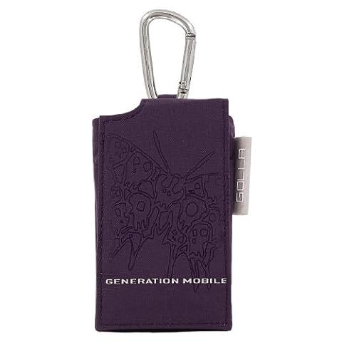 Golla Etui pop bag avec mousqueton ligne B'fly pour Lecteur mp3/mp4 Violet