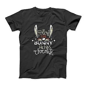 Follow The Bunny Er hat Schokolade Nette lustige Häschen-Ostern-T-Shirt SweatshirtHoodie Tank Top für Männer Frauen Kinder