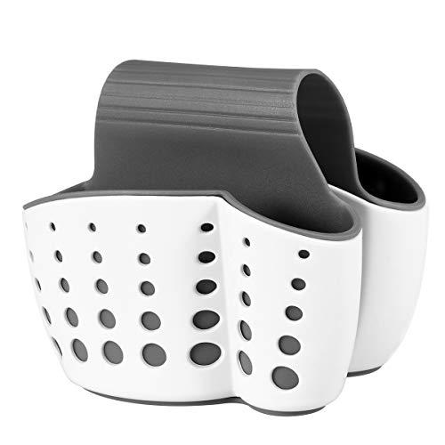 ounona porta spugne organizer per lavello cucina cestino portaoggetti (bianca)