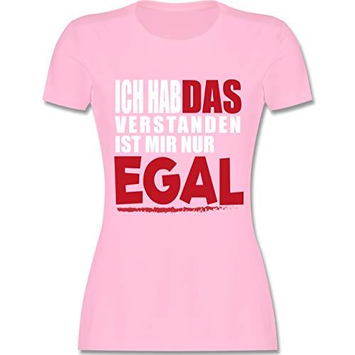 Statement Shirts - Ich hab das verstanden ist Mir nur egal - XXL - Rosa - L191 - Damen T-Shirt Rundhals