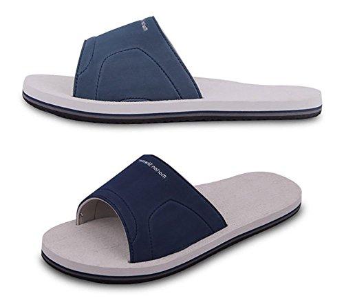 Slip On pantofole antiscivolo doccia sandali House Mule Think schiume sole piscina da spiaggia o da bagno scorrevole per adulti Grey