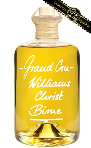 Grand Cru - Williams Christ Birne 0,5 L sehr fruchtig & weich 40% Vol. Obstbrand Birnen Schnaps