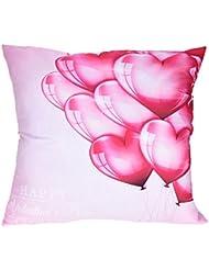"Funda de almohada, hmlai feliz día de San Valentín carta impresión romántico rosa fundas de almohada sofá coche cojín cubierta decoración del hogar, 18""x18"", do"