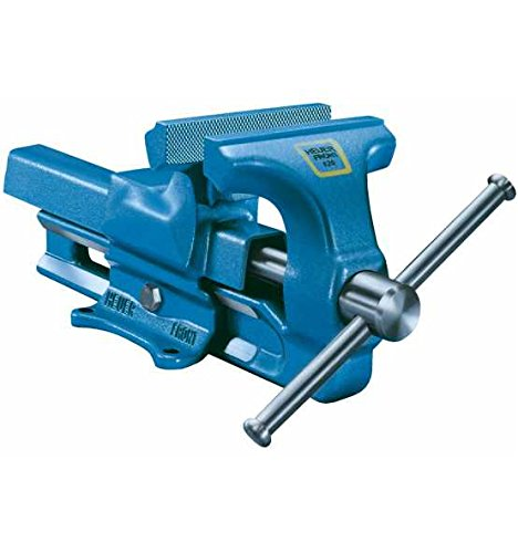 Heuer Schraubstock (ganz aus Stahl mit integriertem Amboss und Trapezgewinde, für hohe Präzision) 100100