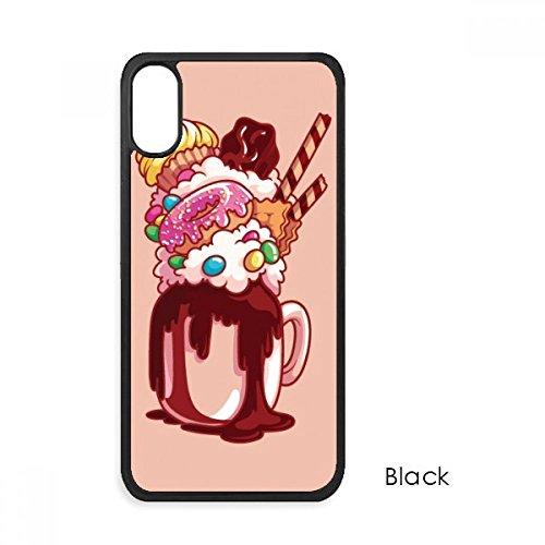 Biskuit-rahmen (beatChong Krapfen Schokoladen-Biskuit-Cup-Eiscreme für iPhone X-Hüllen phonecase Apple-Abdeckungs-Fall-Geschenk)