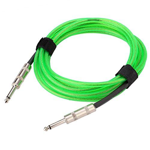 Verde 10ft 3m cable de guitarra eléctrica Premium Instrumento Cable Amplificador plomo para Fender