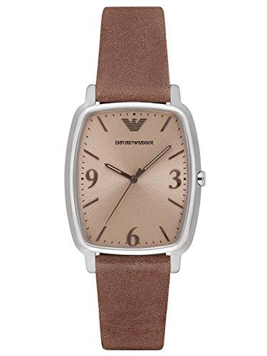 Emporio Armani AR2489 Mens Epsilon Brown Leather Strap Watch