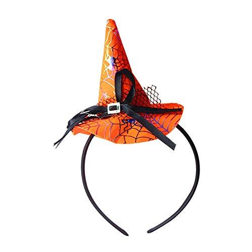 WSCOLL Kinder Happy Halloween Decor Hexenhut Stirnband Mit Spitze Kleinkind Crown Cosplay Kostüm Fotografie Foto Requisiten Für HalloweenB (Kleinkind Süßigkeiten Skelett Kostüm)