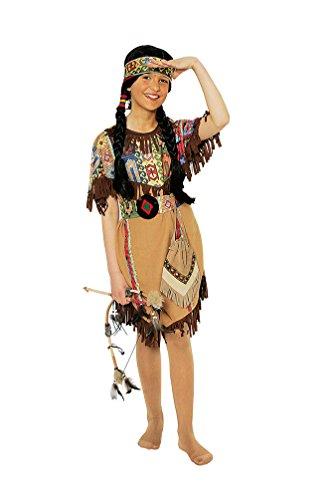 Indianer Squaw Kostüm Kind - Karneval-Klamotten Indianer Kostüm Kinder Mädchen Indianerin
