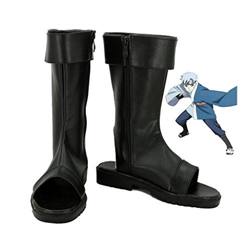 Fuman Naruto Hyuga Hinata cosplay Schuhe Boots Damen Schwarz 39 BORUTO