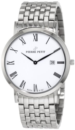Pierre Petit - P-787G - Montre Mixte - Quartz Analogique - Bracelet Acier Inoxydable Argent