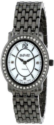 August Steiner Femme AS8043BK Dazzling Diamant Oval Montre Bracelet