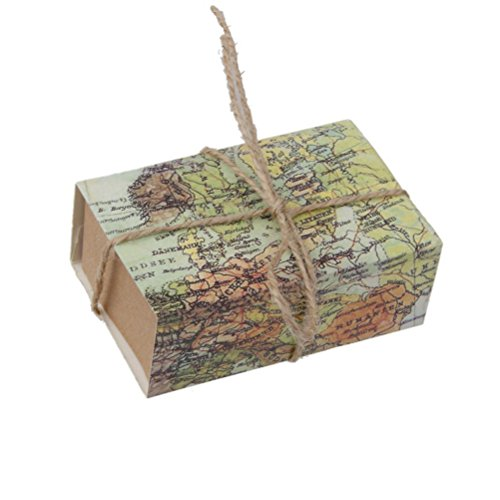 Wedding Gift Box Amazon : NUOLUX Candy Gift Boxes 50Pcs Craft Paper Case for Wedding Favors ...