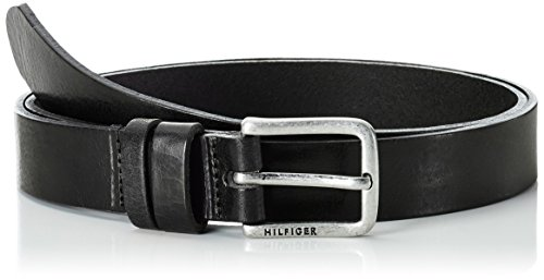 Tommy Hilfiger Jeans Slim Belt, Cintura Donna, Nero (Masters Black 017), 95 (Taglia Produttore:95)