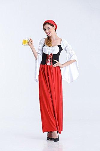 Ruanyi Deutsch Oktoberfest Kostüm Rock Maid Kostüm Female Pirate Kostüm Halloween Bier Kleidung für Frauen (Size : M)