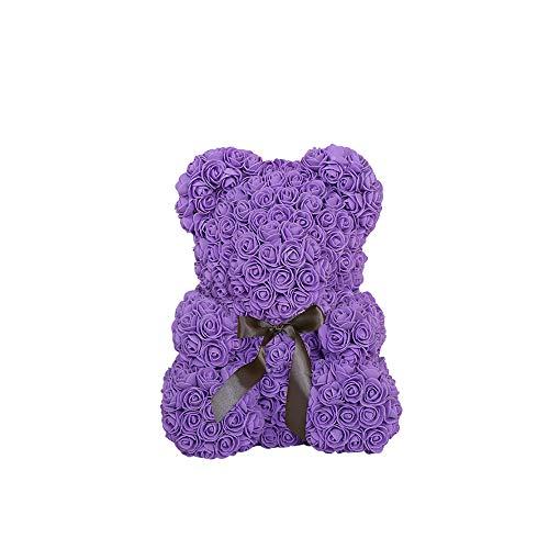 Künstliche Blume Rosa Teddybär Valentinstag Geburtstagsgeschenk Home Hochzeitsfeier Dekoration Großes Jubiläum Weihnachten Valentines Weißer Valentinstag Muttertag ()