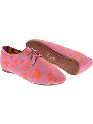 Iron Fist Aloha Bitches Oxford Flexi Flat, Ballerines plates femme Rose - rose