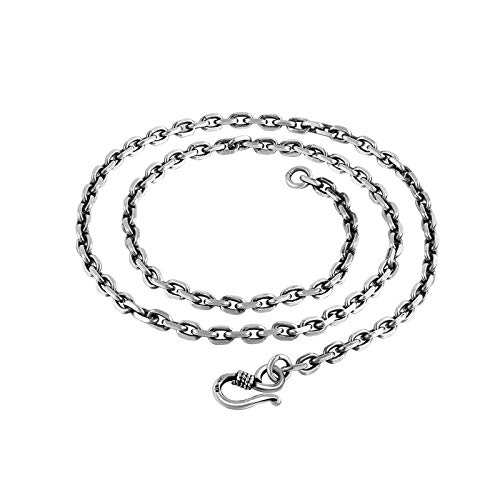 Aeici Herren Kette Silber 925 Kabelkette Kette 4Mm Halsketten Silber 30 Inch