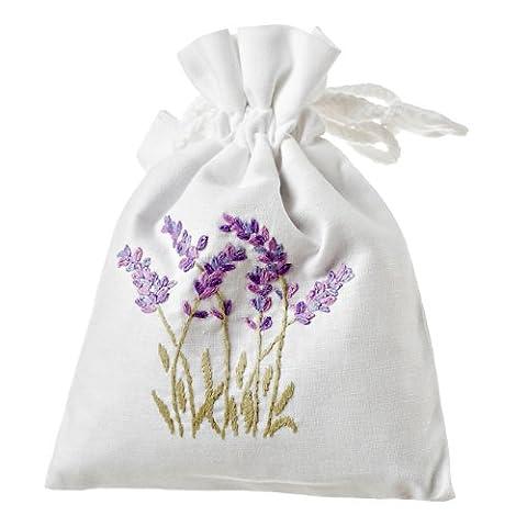 Drawstring Lavender Bag - white cotton by Jersey Lavender (Cotton Schlaf Kleidung)