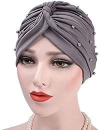 prevently marca nueva alta calidad color brillante unisex gorro de  impresión Ruffle cáncer gorro de punto bufanda cuello turbante cabeza India… 7715869e6dbc