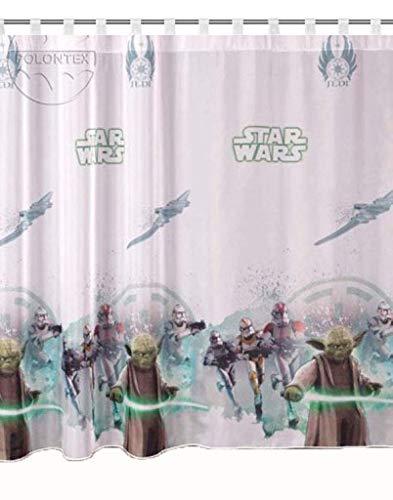 Cortinas Star Wars Jedi notebook 75cm B x 157cm