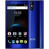 OUKITEL K3 - Telefonos Móvil 4G Smartphone Libre con Batería 6000mAh, 4 Cámaras (2MP + 16MP Frontal, 2MP + 16MP Trasera), Pantalla Sharp de 5,5 pulgadas Androide 7.0, MTK6750T Octa Core 1.5GHz 4GB RAM 64GB ROM OTG Huella Digital GPS Dual SIM - Azul