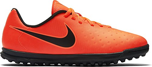 Nike Unisex-Kinder Magista X Ola II TF Fußballschuhe, Orange (Total Rouge Crimson/Black-Bright Mango), 35 EU