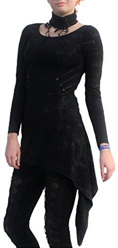 Punk Rave Damen Kleid Jersey asymmetrisch Q-241 (Luna Kostüme Online)