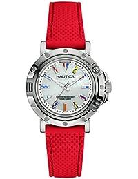 Nautica Reloj Analógico para Mujer de Cuarzo con Correa en Silicona 0656086081114