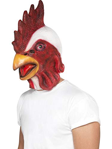 Kostüm Pet Huhn - Luxuspiraten - Kostüm Accessoires Zubehör Tier Latex Maske Huhn Hühnermaske Henne Chicken, perfekt für Karneval, Fasching und Fastnacht, Weiß