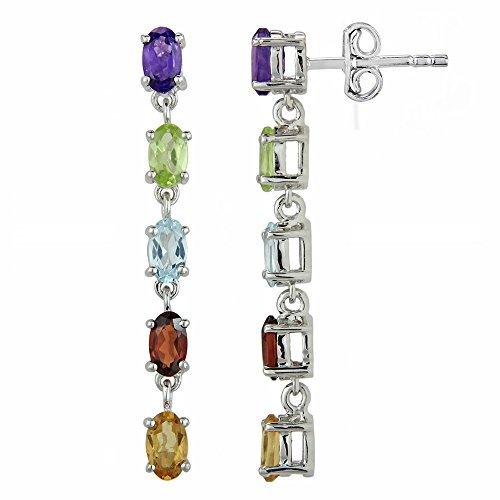 bfd90537a Luv Eclipse Regenbogen-Ohrringe für Frauen in Sterling-Silber