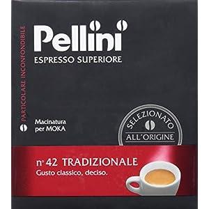 Pellini Caffè, Espresso Superiore Caffè Macinato per Moka No. 42 Tradizionale - Confezione da 2 x 250 gr (500 gr)