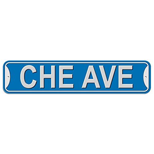 Che Schild–Kunststoff Wand Tür Street Road Stecker Name, plastik, blau, Avenue
