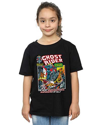 Marvel Mädchen Ghost Rider T-Shirt Schwarz 9-11 Years