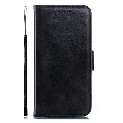 Miagon für Xiaomi Redmi Note 7 Lederhülle,Luxuriöse Stilvoll Lanyard Premium Pu Leder Kartenfach Magnetverschluss Flip Brieftasche Etui Schutzhülle mit Standfunktion