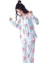 c6a4793d6 Ropa De Noche Mujer Fashion Respirable Ropa para El Hogar Cómodo Conjunto  De Pijama Manga Larga