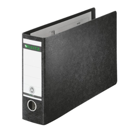 Preisvergleich Produktbild Leitz Qualitäts-Ordner für Sonderformate, A4 (quer), 8 cm Rückenbreite, Hartpappe (RC), Schwarz, 10740000