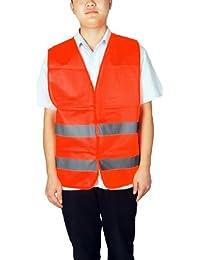 Naranja asiento color rojo de seguridad de alta visibilidad chaleco reflectante para niños
