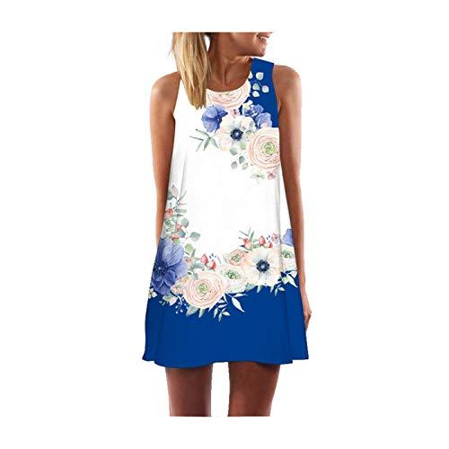 DROTYK& Women Summer Boho Short Maxi Dress Evening Cocktail Party Beach Dresses Sundress Style 3 Flower M - Little Lady Flower Girl Dresses
