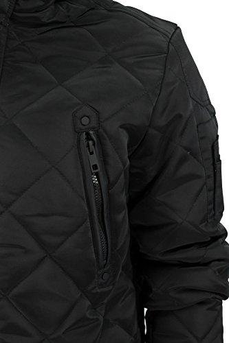 Brave Soul 'Scout' - Veste à capuche pour homme - matelassée Noir