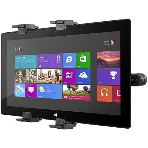 kwmobile El soporte reposacabezas para Microsoft Surface Pro negro - Coche reposacabezas soporte para