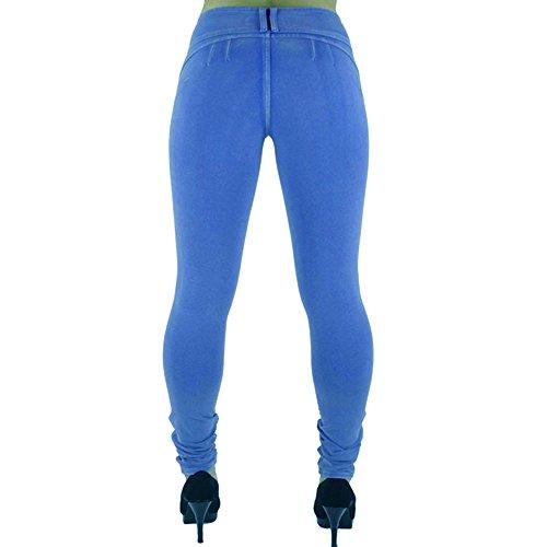 BOZEVON Donna Pantaloni Matita Casuali Leggings Moda Eleganti Pantaloni stretti sottili deep blu
