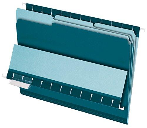 Pendaflex 421013Pendaflex Innenordner, 1/3 Zuschnitt, oberer Tab, Brief, 100/Karton Letter Size blaugrün (Pendaflex Brief)