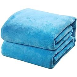 Vosarea Manta de vellón de Franela de Color Puro Manta de sábana de Macizo de Color sólido, sábana 100x140cm (Rojo)