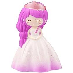 Saihui Juguete de lento crecimiento para niñas, vestido de boda Kawaii, crema, aromático, jumbo para alivio del estrés, colección de juguete ecológico de poliuretano, A