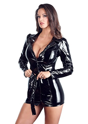 Black Level Lack Mantelkleid schwarz