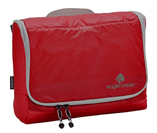 Eagle Creek Kulturbeutel Kosmetiktasche Pack-It Specter On Board Hygienetasche zum Aufhängen Kulturtasche, 25 cm, 5,5 l, rot/Volcano rot