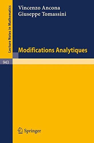 Modifications Analytiques par Vincenzo Ancona